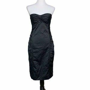 Nanette Lepore Womens Strapless Sheath Dress Black